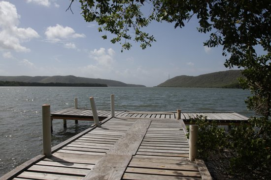Hotel Parador Guanica 1929: The small pier in the back of the parador, with views of the Guanica Bay