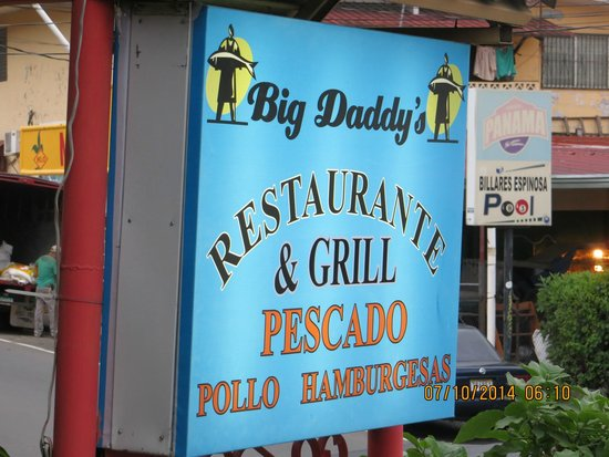 Big Daddy's Grill: Front sign