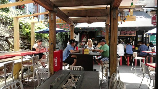 Outdoor seating - Picture of Charlie's