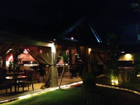 Sarong Restaurant Entrance at Night 1
