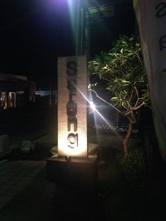 Sarong Restaurant Entrance at Night 2