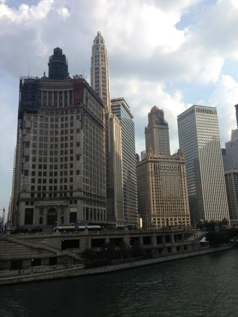 """The River Hotel is the 40 story white """"rocket"""" second from left."""