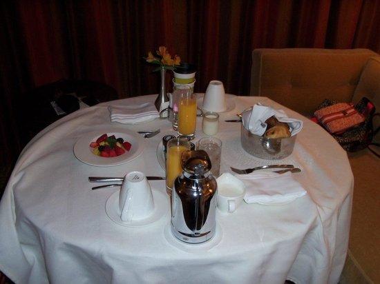 Mandarin Oriental, Las Vegas : Café no quarto