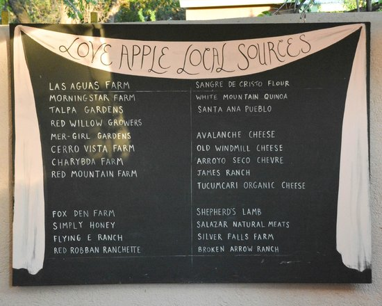 The Love Apple : Suppliers