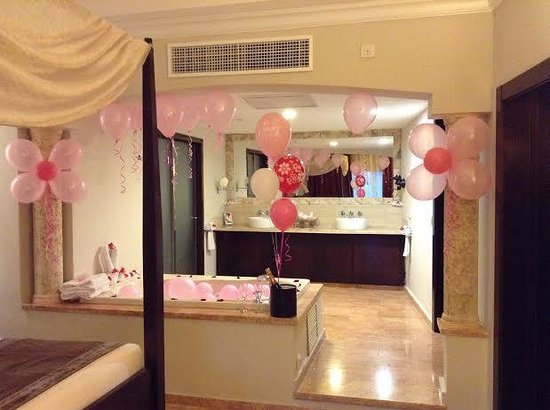 Majestic Elegance Punta Cana: Indoor Jacuzzi Birthday Surprise from Butler