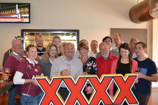 XXXX Brewery Tour: Wally Lewis guided a tour