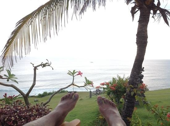 Uluwatu Surf Villas: view from our pool