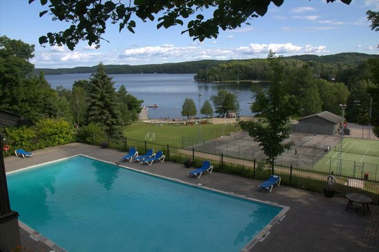 Hidden Valley Resort: View from the restaurant patio