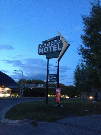 Teton Gables hotel sign