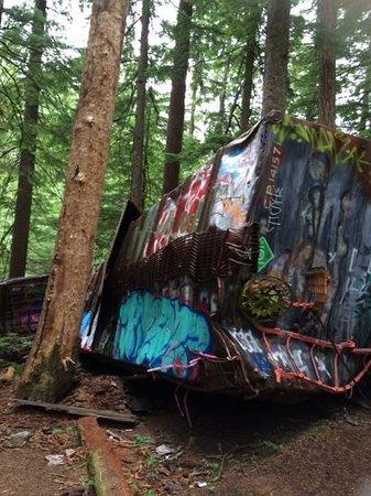 The Whistler Train Wreck Trail: grafitti