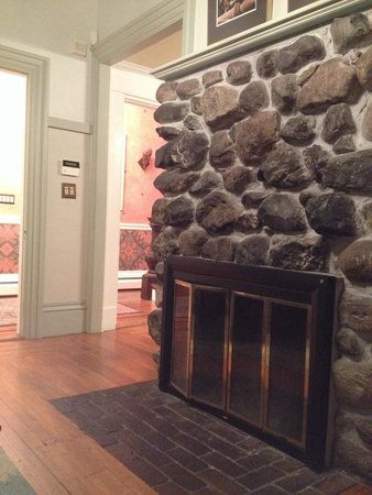Chesley Road Bed and Breakfast: Fireplace in common area.
