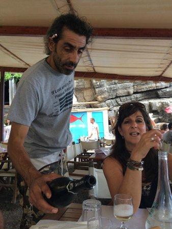 Da Adolfo: our server