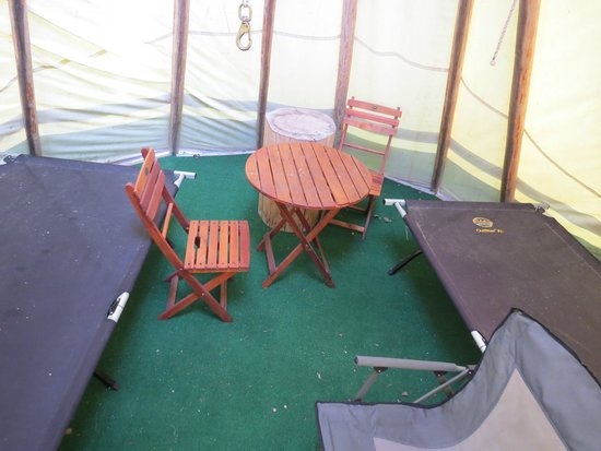 Frontier Cabins Motel: Inside TeePee
