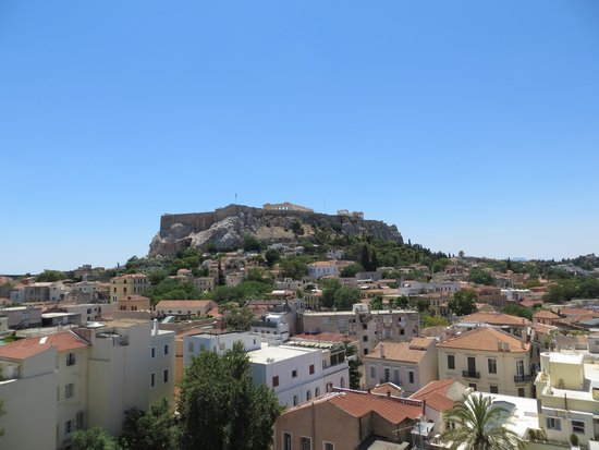 Central Athens Hotel: Rooftop daytime view