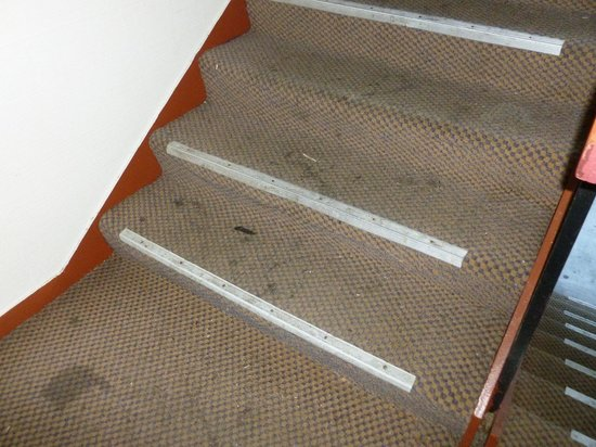 Bremerton Inn: Filthy Stairs