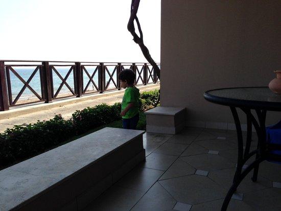 Miramar Al Aqah Beach Resort: Вид из номера deluxe sea view
