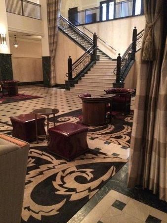 The Mayo Hotel : The beautiful lobby.