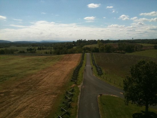 Antietam National Battlefield: View of the Sunken Road (Bloody Lane) from observation tower