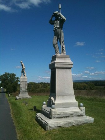 Antietam National Battlefield: Two of three soldiers monuments