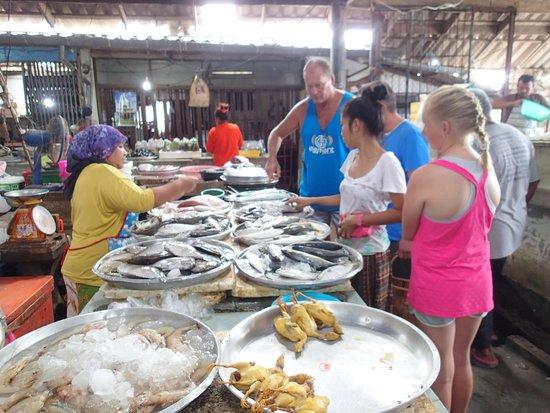 Ying's Thai Cooking Class: Fresh fish