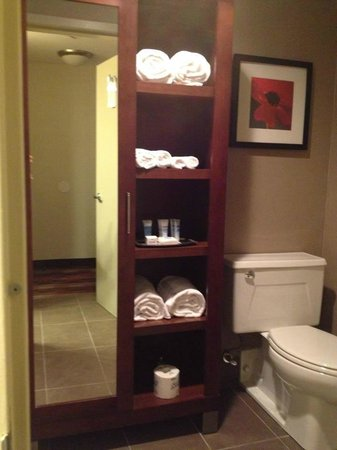 Wyndham Hamilton Park Hotel and Conference Center: The toilet and armoire area