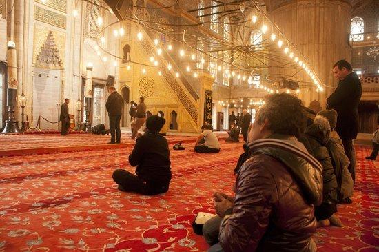 Mosquée Bleue (Sultan Ahmet Camii) : The prayer zone