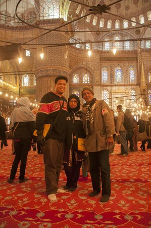 Mosquée Bleue (Sultan Ahmet Camii) : me and my family