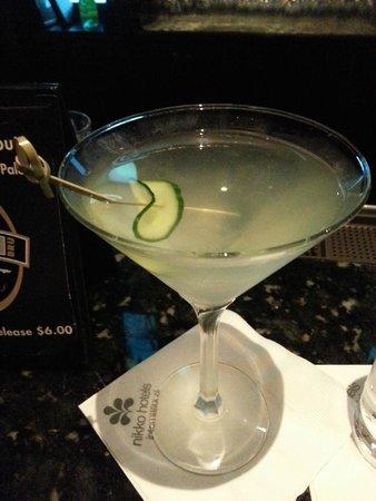 Hotel Nikko San Francisco: My fabulous Hendricks martini...