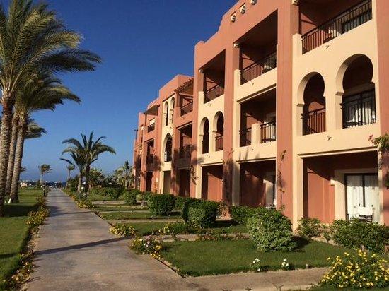 Jaz Oriental Resort: vista camere beach area