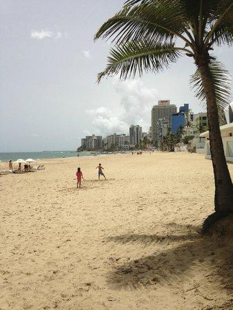 La Concha Renaissance San Juan Resort: View from our beach chairs