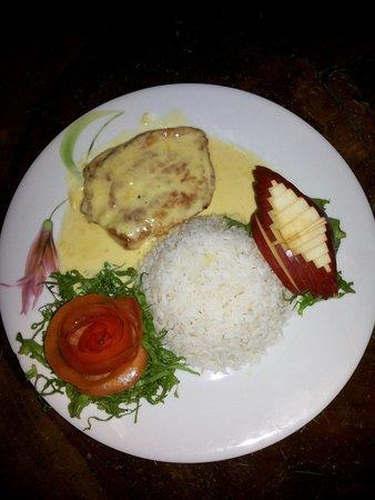 Restaurante Delicias Bahia Drake : Plato especial