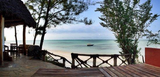 """Pongwe Beach Hotel : Sicht vom """"Vorplatz"""" des VALS Zimmers..."""