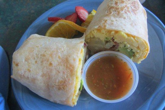 The Stew Pot : Breakfast Huevos Rancheros Burrito