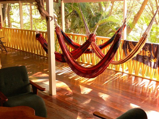 Hotel Aurora : Balcony with hammocks to relax
