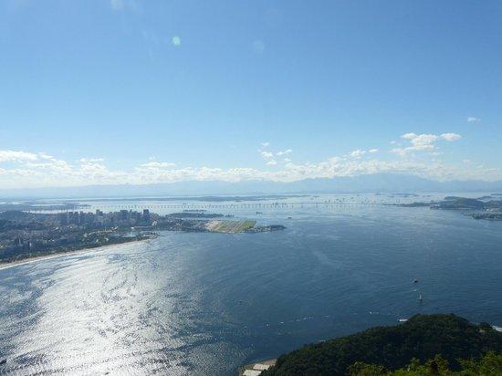 Morro da Urca: Vista hacia la bahia