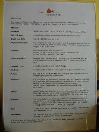 Cloister Inn Hotel: hotel info