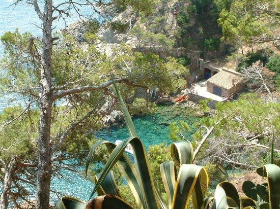 Jardi Botanic de Cap Roig: derrière les cactus... la mer