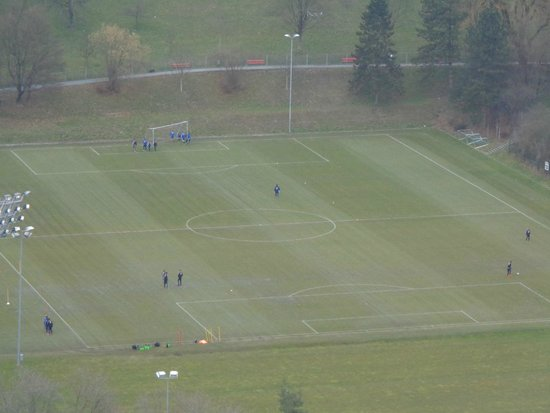 HITrental Allmend Comfort Apartments: FC Luzern team practicing during the day