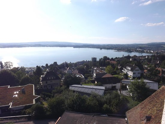 Hotel Restaurant Guggital: View from our balcony looking towards Zug