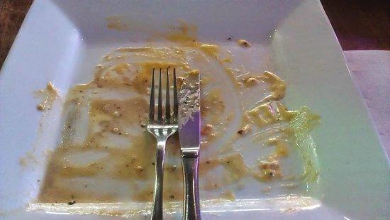 Barista : My empty plate!