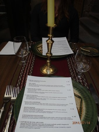 Inkaterra La Casona Relais & Chateaux: Elegant, Peaceful Dining