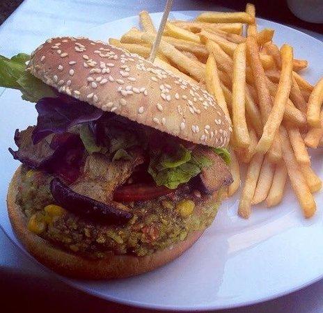 Restaurante Bellaverde: Burger mit Kräuterseitlingen