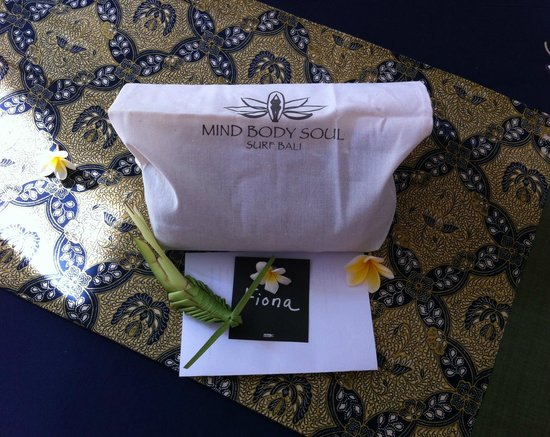 Mind Body Soul Surf Bali Retreat: The welcome bag