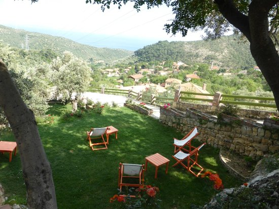 Ongen Country Hotel : Lawn with a view