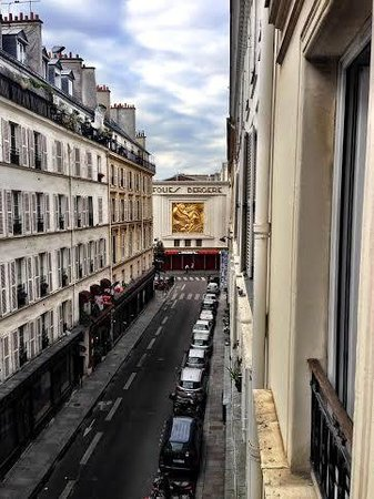 Hotel Diva Opéra: View from my balcony, room 302
