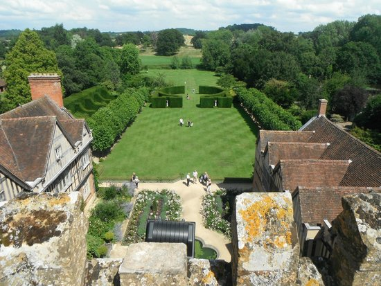 Coughton Court: View from the roof.