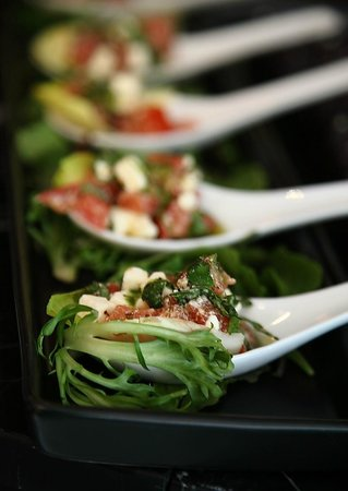 Maya Cafe Mediterranean Lifestyle: Micro Greek salad for catering