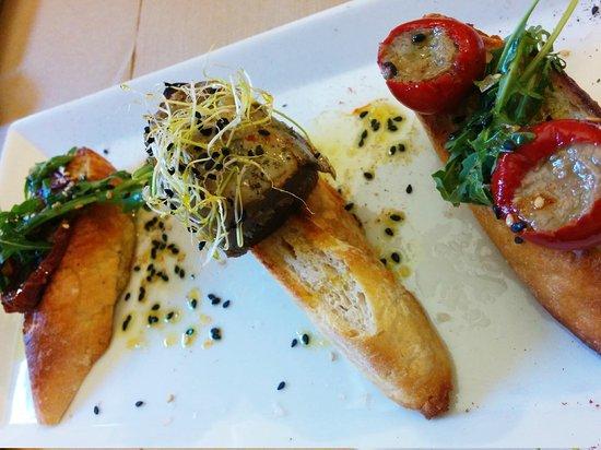 Alsur Café (Palau): El de tomate relleno de anchoa me encantó