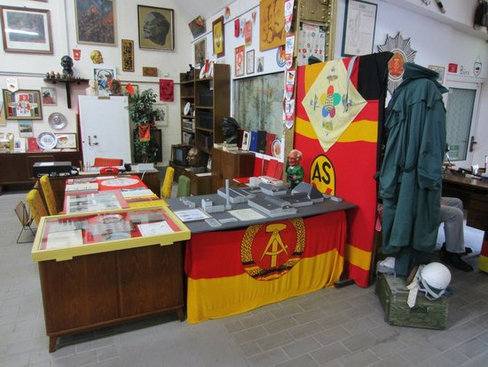 Demmin, Germany: Flags and other memorabilia