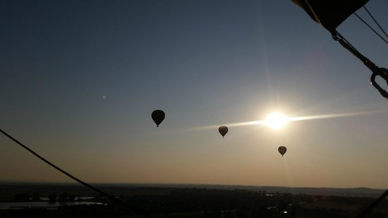 Adventure Balloon Sports : Three of the balloons that launched with us.